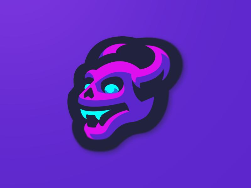 Demon in 2020 Illustration, Logo design inspiration