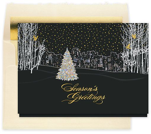 The Gallery Collection Christmas Cards.Bright City Lights Christmas Card Work Christmas Party