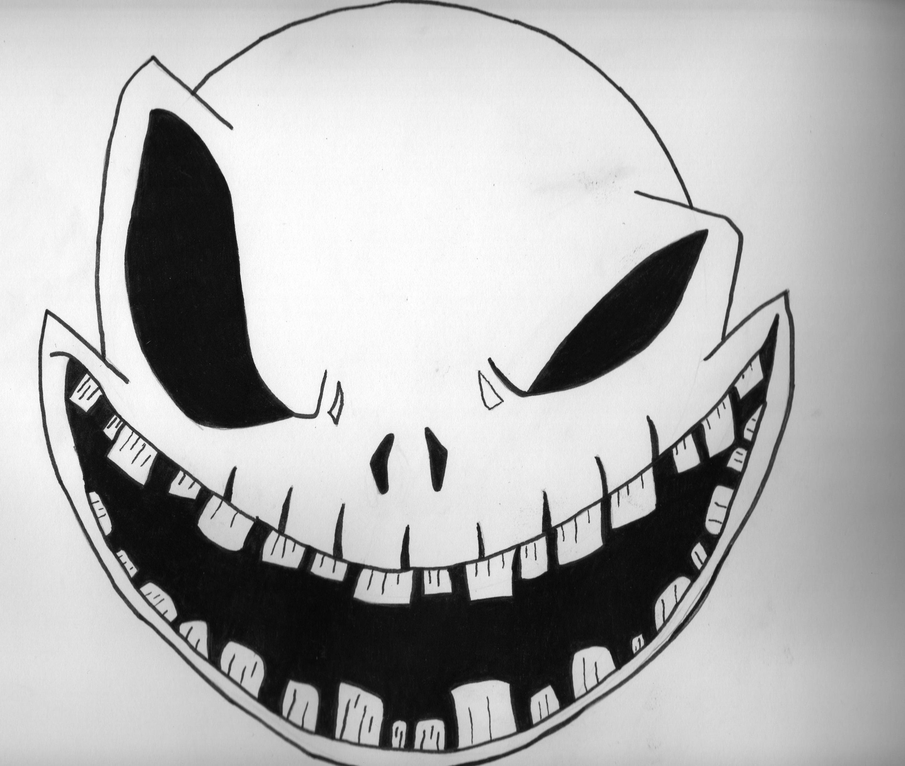scary pumpkin patterns free printable | Monster Face Pumpkin Stencil ...