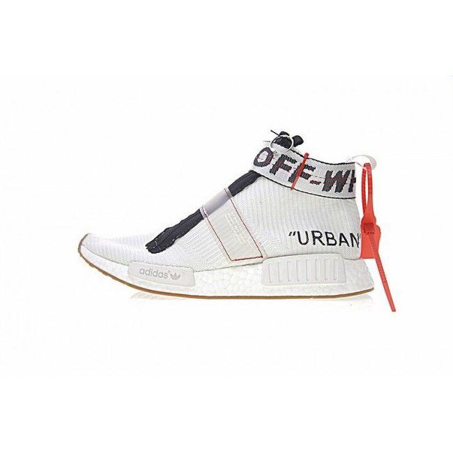 eba594b50e144 Original Mens OFF-WHITE X Adidas Originals NMD City Sock White Black BA7208  Trainers