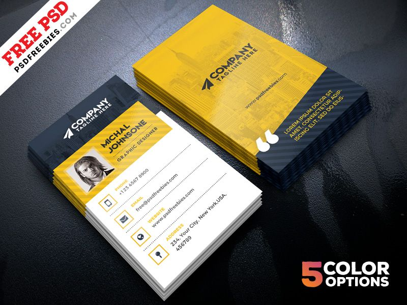 Corporate Business Cards Design Free PSD | Business card psd ...