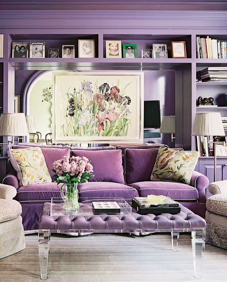 17 Cool Purple Rooms Ideas That Prove Lilac S The New Millennial Pink Purple Rooms Home Decor Homedecor Living Room