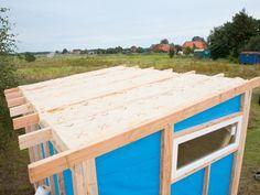 Gartenhaus selber bauen Bauabschnitt 3 Das Dach Der