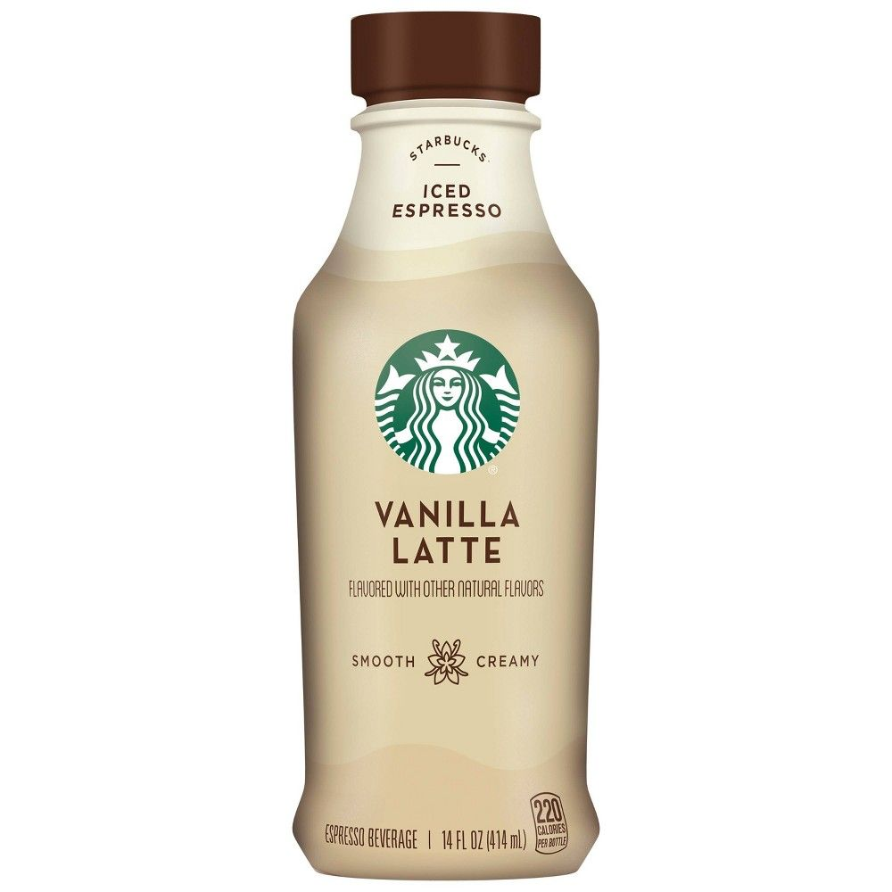 Starbucks Iced Vanilla Latte - 14 Fl Oz Bottle