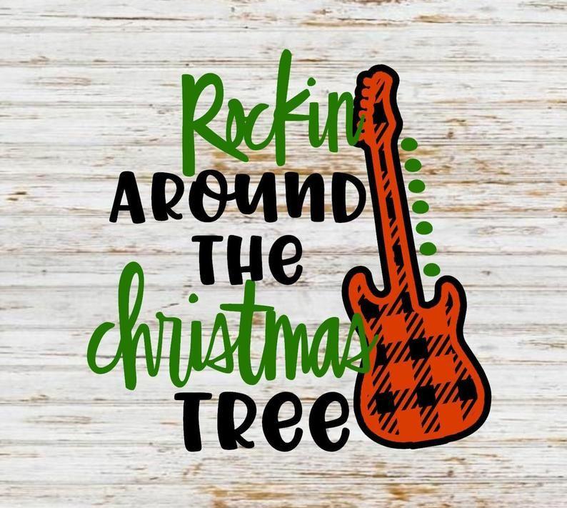 Rockin around the christmas tree svg blessed svg farmhouse