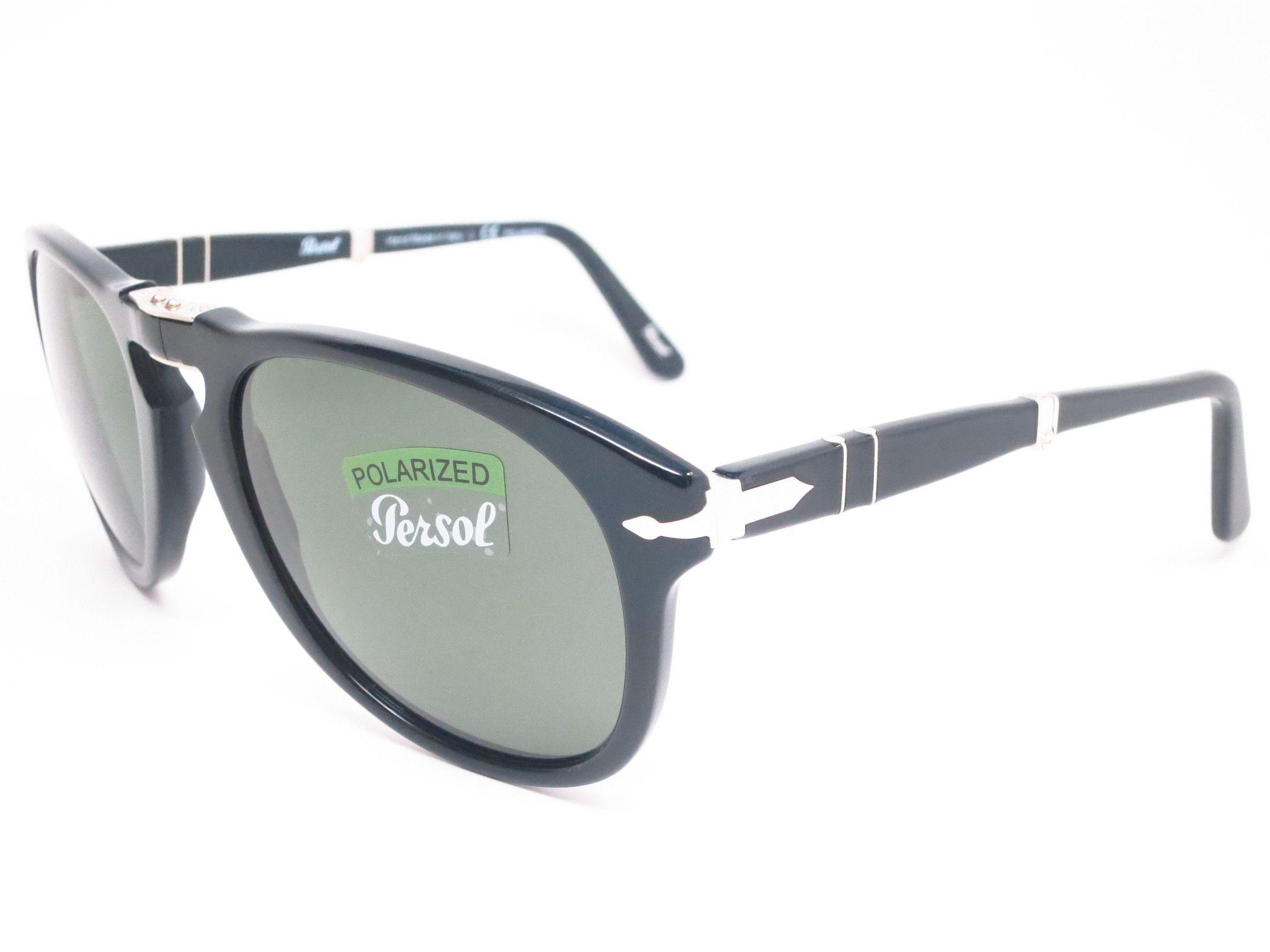 fa1da808115bf Persol PO 714-S 95 58 Black Polarized Folding Sunglasses