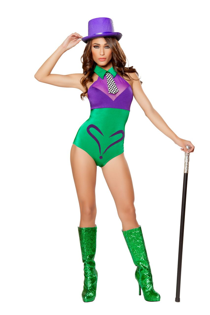 Sexy Roma Green Evil Mastermind Hottie The Riddler Batman Super Villain Comic Book Halloween Party Costume  sc 1 st  Pinterest & Evil Mastermind Hottie | Pinterest | Halloween party costumes and ...