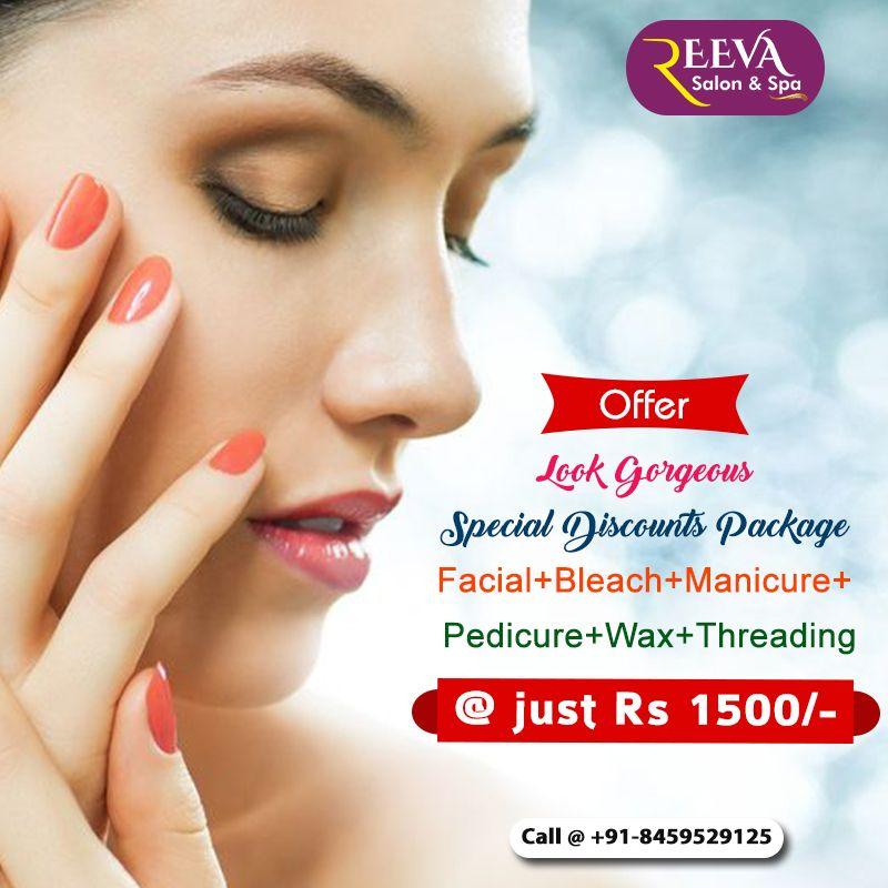 Facial Bleach Manicure Pedicure Wax Threading Just Rs 1500 Pedicure Salon Manicure And Pedicure Manicure
