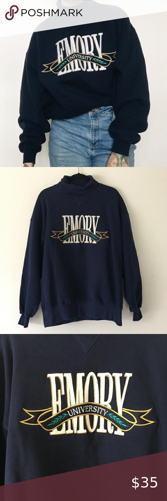 Vintage NWOT Deadstock Emory University Sweatshirt in 2020
