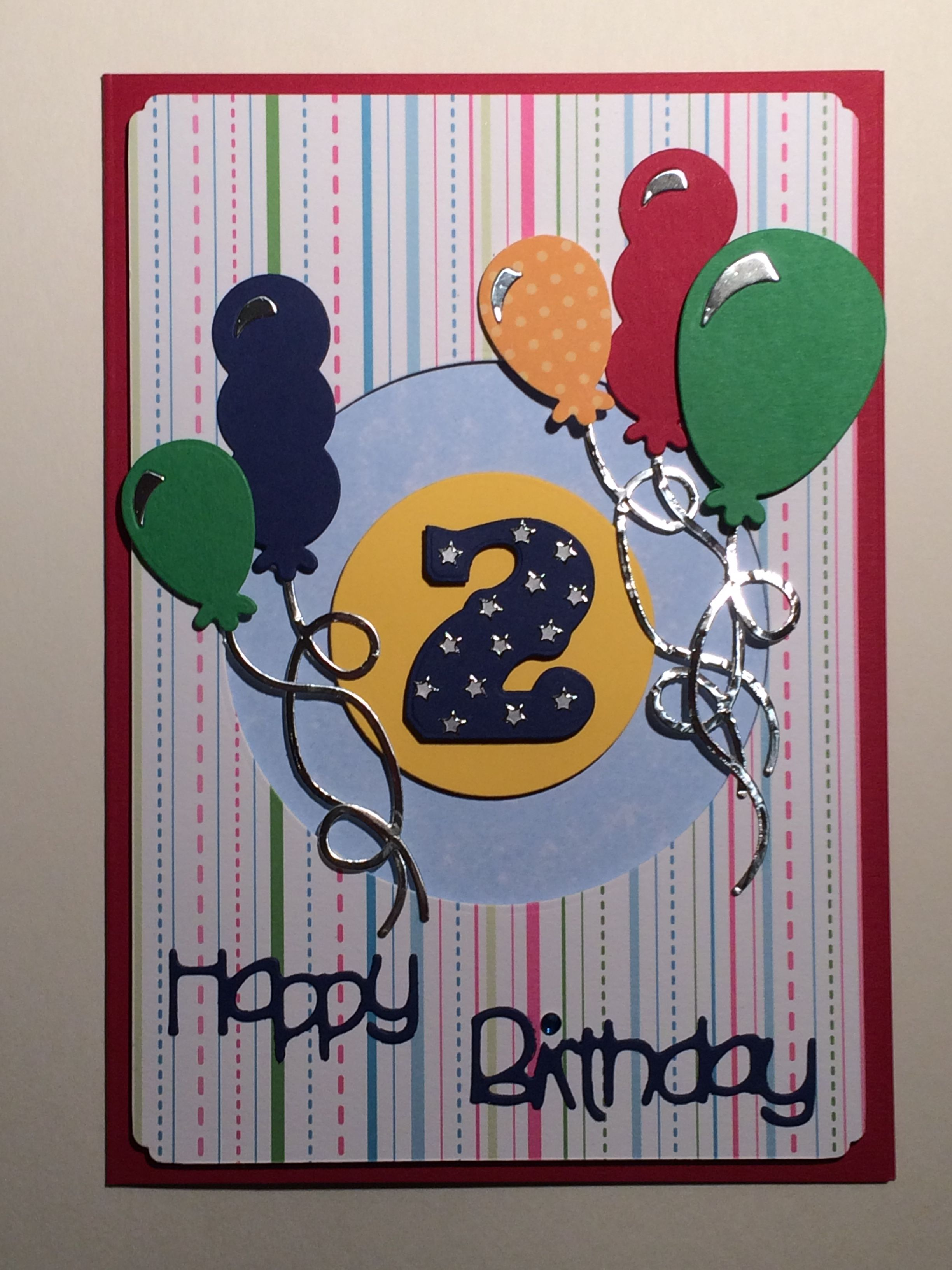XCut Balloon Dies And Go Kreate Happy Birthday Die For A 2 Year Old