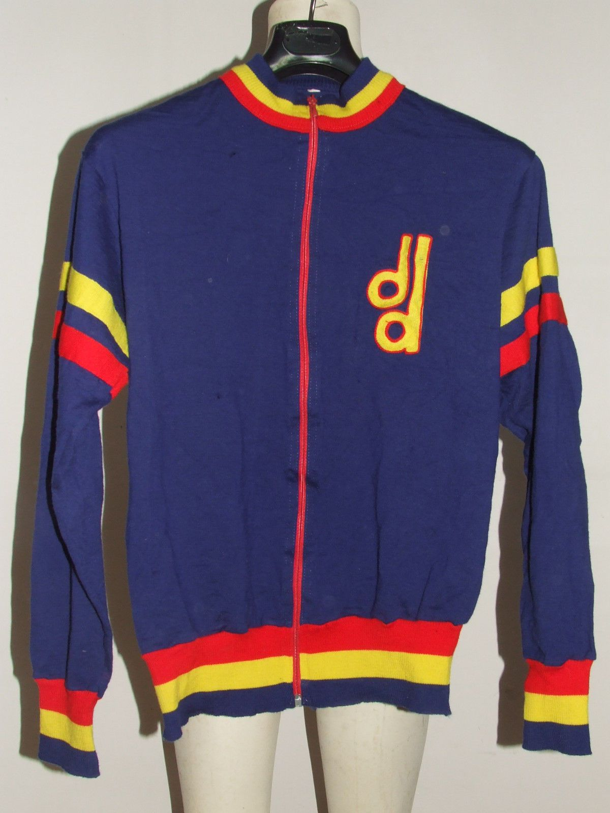 a02bd8377 SHIRT BIKE JACKET SHIRT MAILLOT CYCLING VINTAGE 70 S DANES WOOL EMBROIDERED