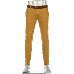 Photo of Alberto Men's Chino Rob Pants, Slim Fit, Cotton T400, Brass Yellow Alberto