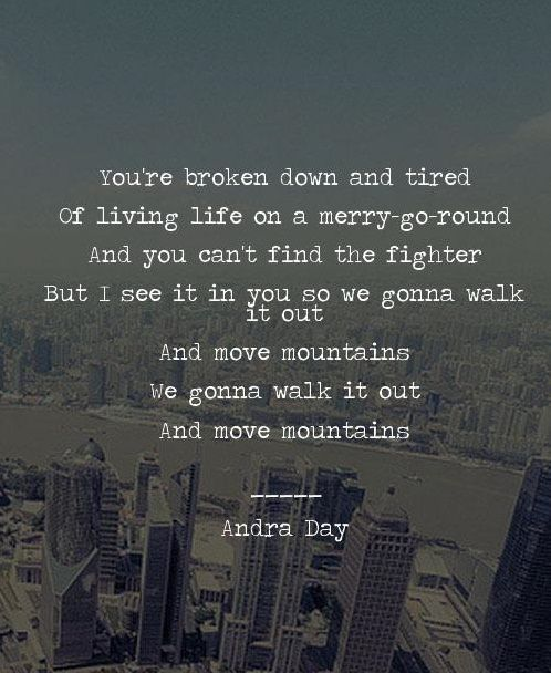 Andra Day Rise Up Love This Song So Inspiring And Strong Lyrics And I Ll Rise Up I Ll Rise Like The Day I Ll Rise Rise Up Quotes Rise Quotes