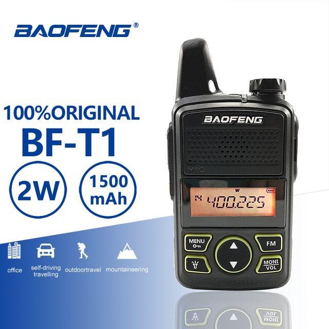 e7638ae9b6c Baofeng BF-T1 Mini Kids Walkie Talkie 20 Channels lUHF 400-470MHz Portable  T1 Ham Two Way Radio Amador Micro USB Hf Transceiver Review