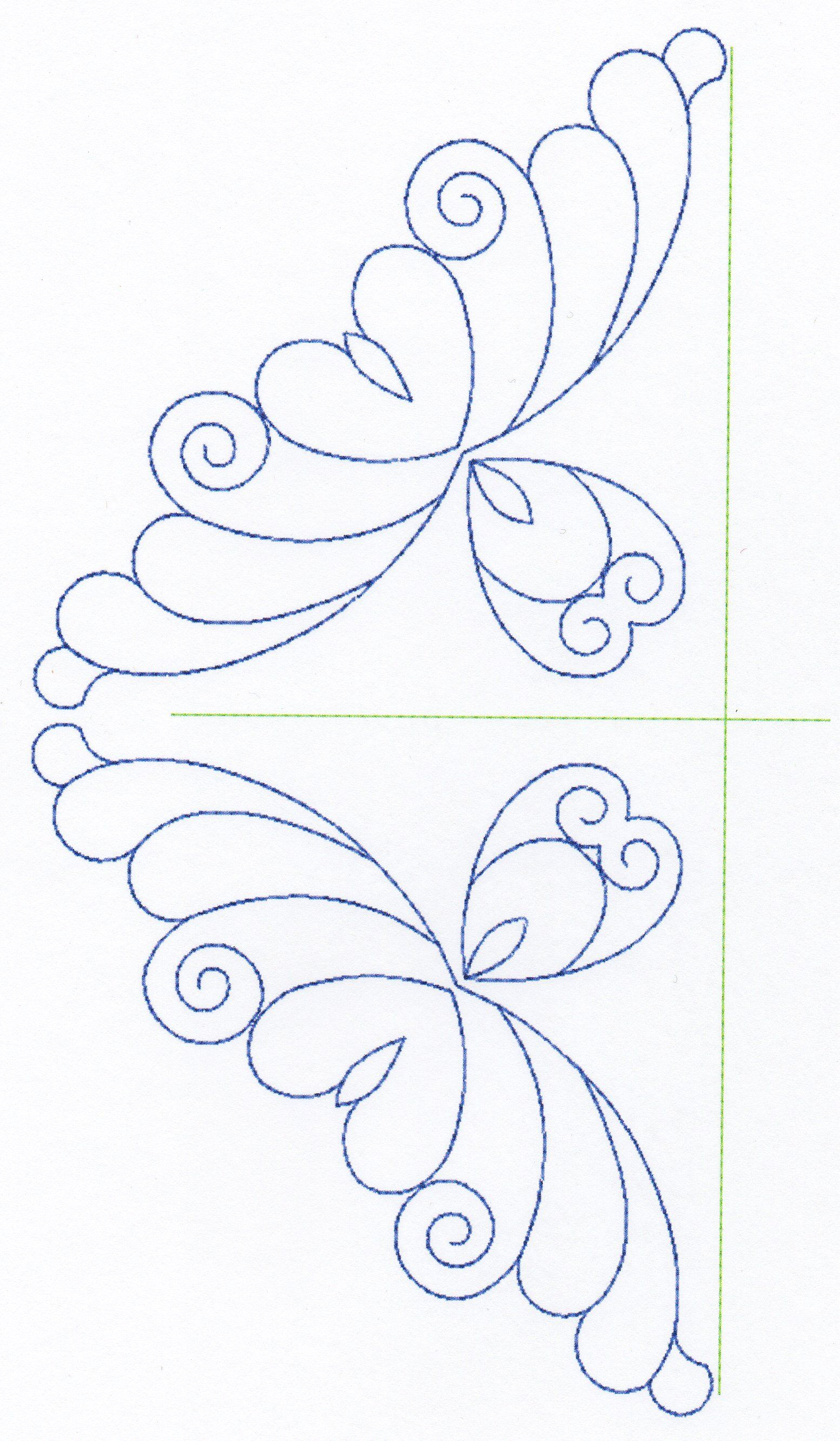 Free Continuous Machine Quilting Designs Feather Quilting Design