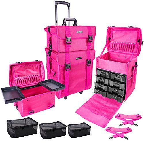 SHANY Soft Makeup Artist Rolling Trolley Cosmetic Case with Free Set of Mesh Bags, Summer Orchid * You can get more details by clicking on the image. Amazon Affiliate Program's Ads. #softmakeup