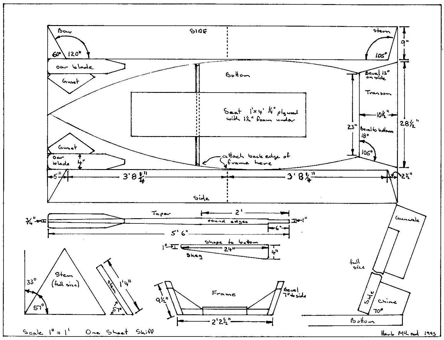 1 Sheet Skiff Plan Boat Plans Wooden Boat Plans Boat Building