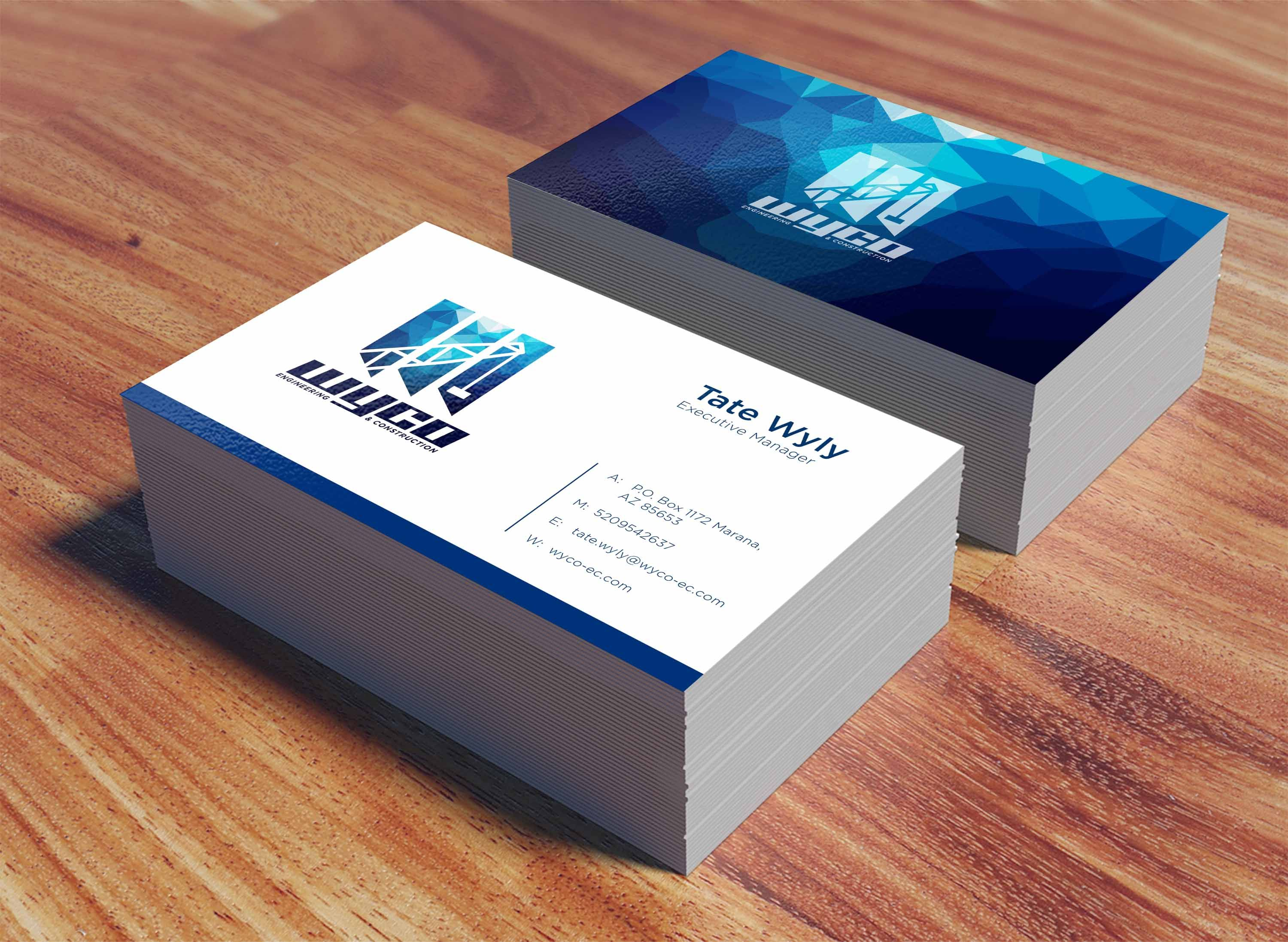 Simple and modern logo for engineering & construction company. Applicating on business card.   Design by TaeYeon