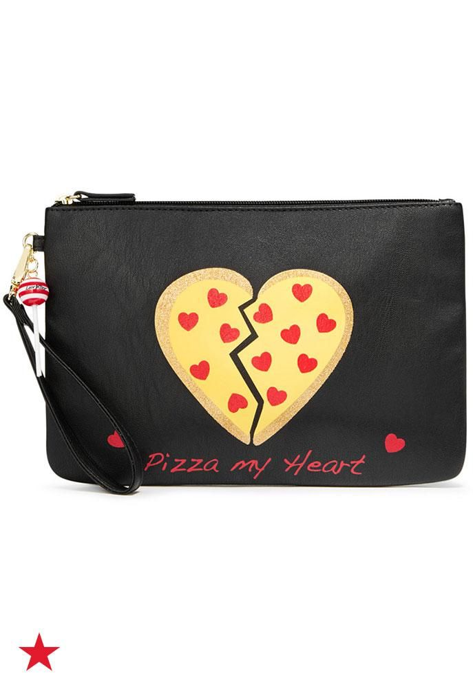 Betsey Johnson just gets us. Feed your pizza obsession with this fresh out of the oven wrislet from Macy's.