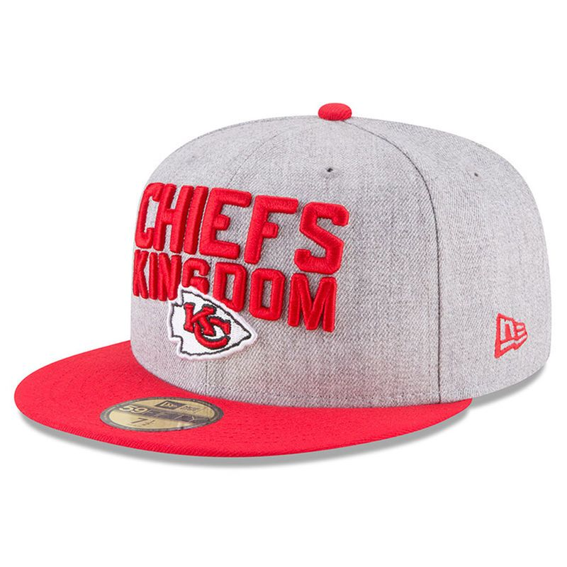 online store 3e30b 44344 Kansas City Chiefs New Era 2018 NFL Draft Official On-Stage 59FIFTY Fitted  Hat – Heather Gray Red