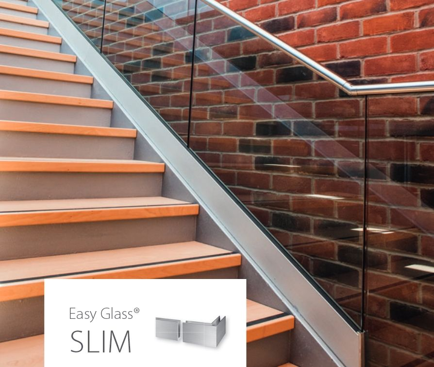 Best Q Railing Easy Glass Slim Google Search Stairs 400 x 300