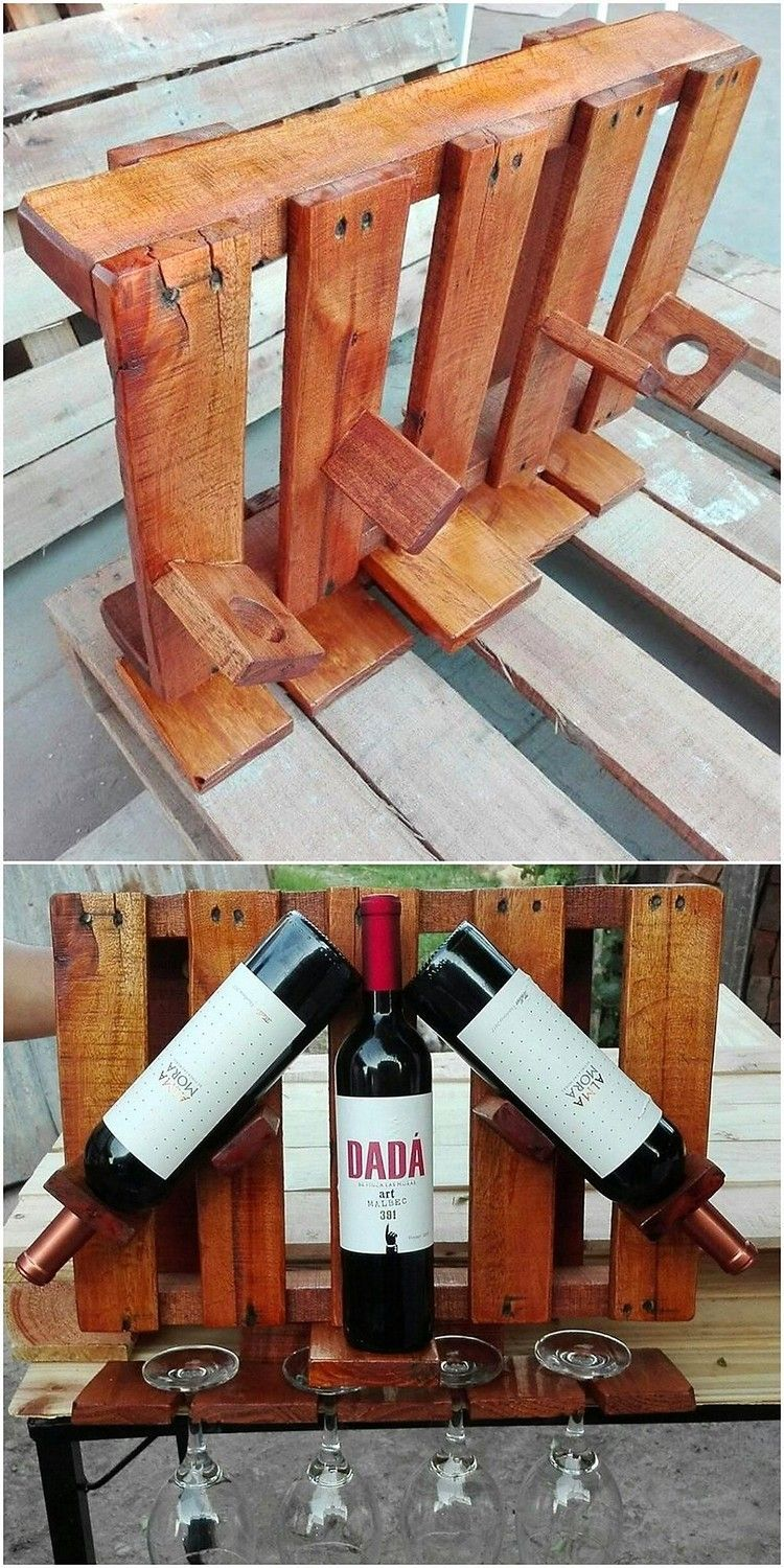 keep this creative wine rack creation in your house that on inventive ideas to utilize reclaimed wood pallet projects all you must to know id=79814