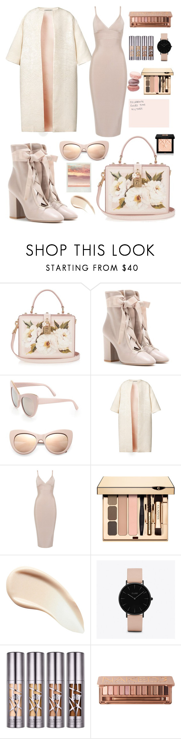 """""""Nude Fall"""" by nada2003 ❤ liked on Polyvore featuring Dolce&Gabbana, Valentino, STELLA McCARTNEY, Esme Vie, Burberry, CLUSE, Urban Decay and Givenchy"""