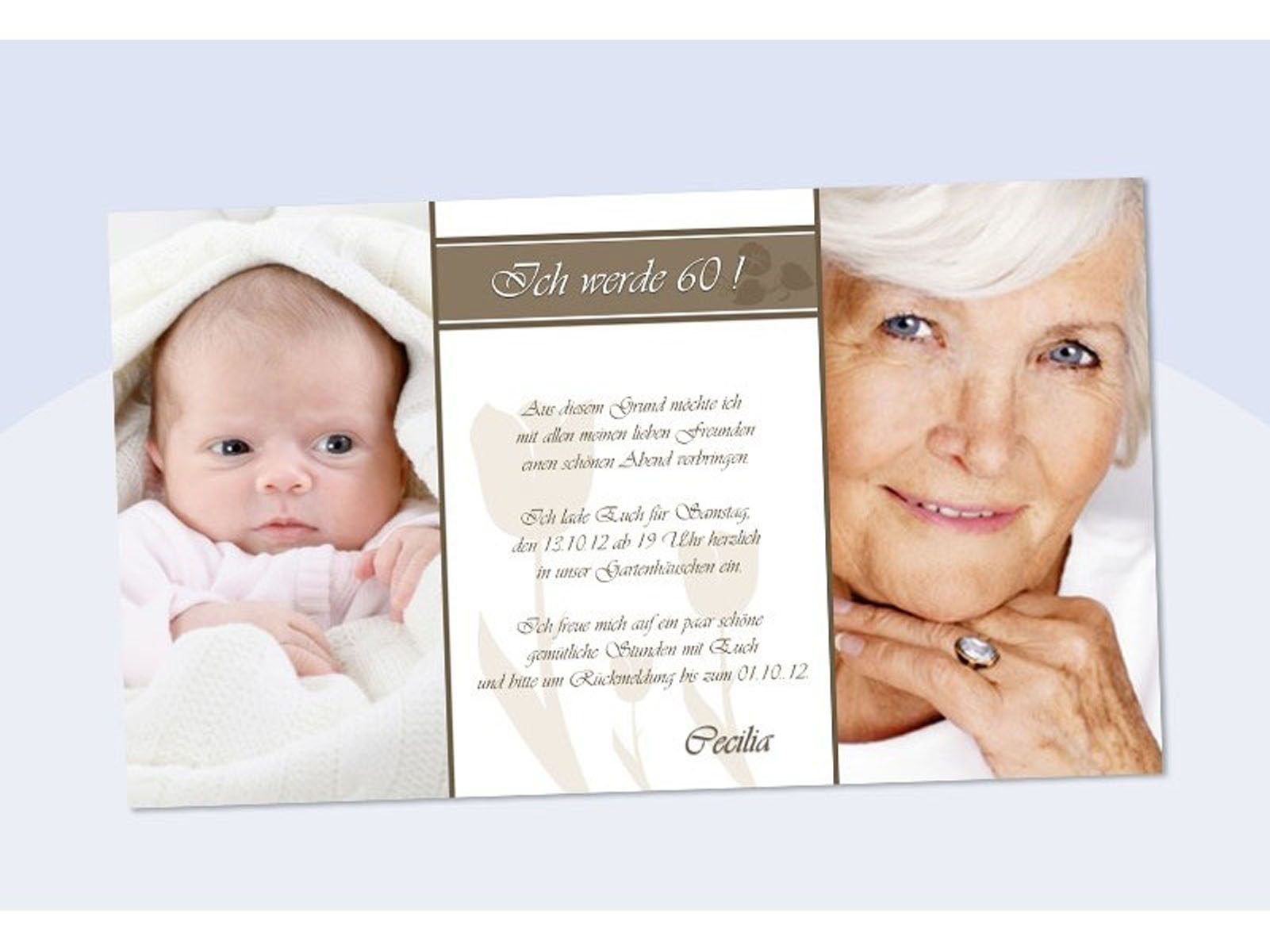 Einladungskarten 60 Geburtstag Einladungskarten 60