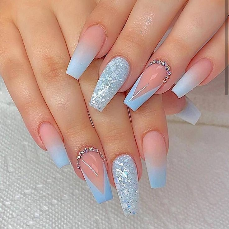 Pin By Maria Bernadette Tan On Nails Blue Acrylic Nails Coffin Nails Long Coffin Nails Designs