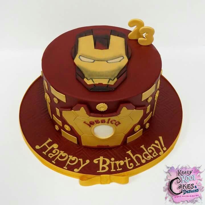 Cool Iron Man Cake With Images Ironman Cake Iron Man Birthday Personalised Birthday Cards Akebfashionlily Jamesorg