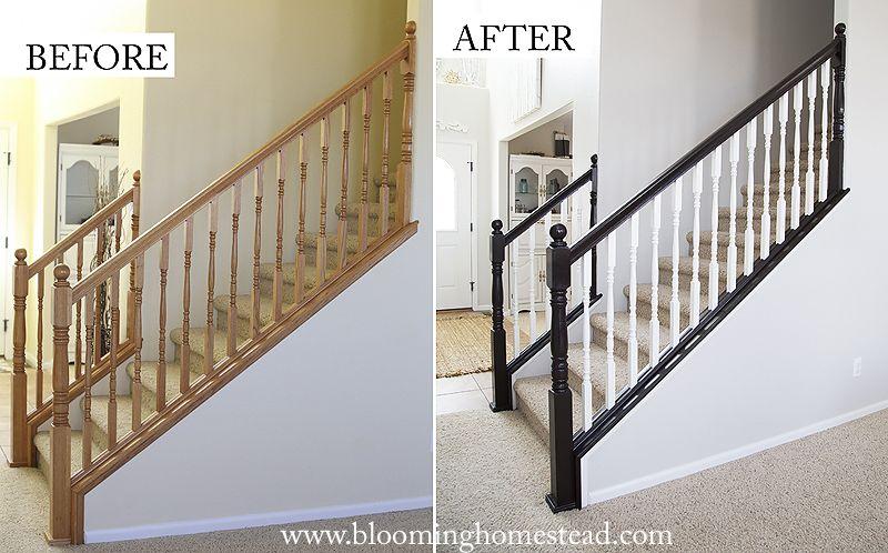 Diy Stair Railing Makeover Blooming Homestead Stair Railing