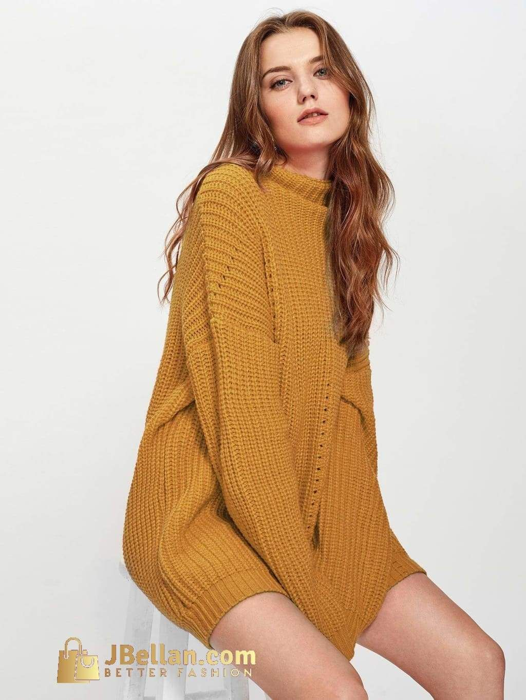 9ae42f90499 Eyelet Detail Solid Jumper in 2019