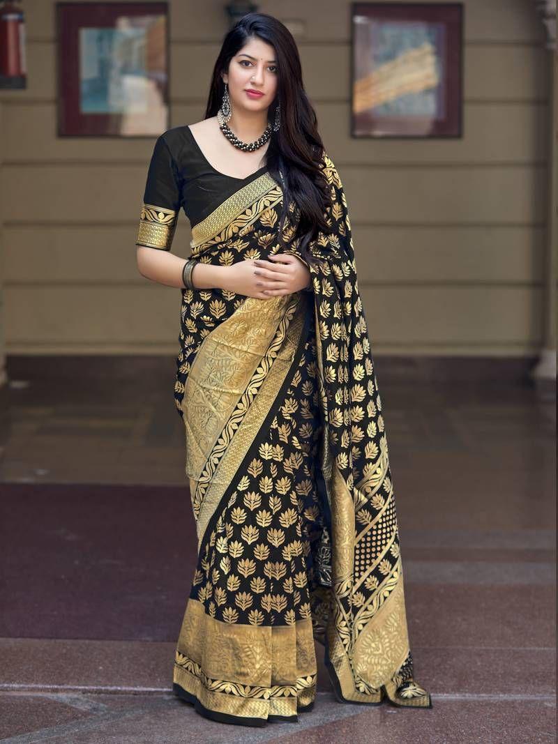 Banarasi Silk Saree For Women Handloom Saree Kanchipuram Silk Saree Weaving Sari Saree Blouse Indian Wedding Designer Saree Silk Saree Saris
