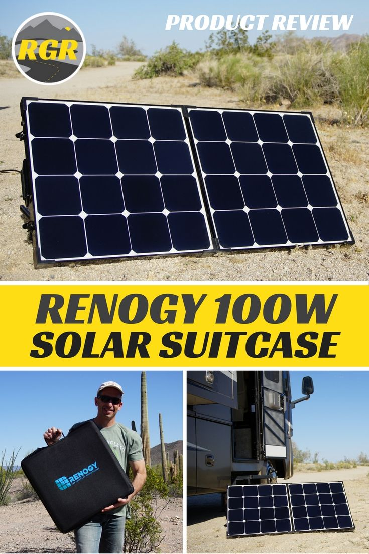 This Affordable Portable And Convenient Folding Solar Panel Folds And Stores Away Inside It S Own Handy Suitcase With Solar Solutions Solar Rv Gear