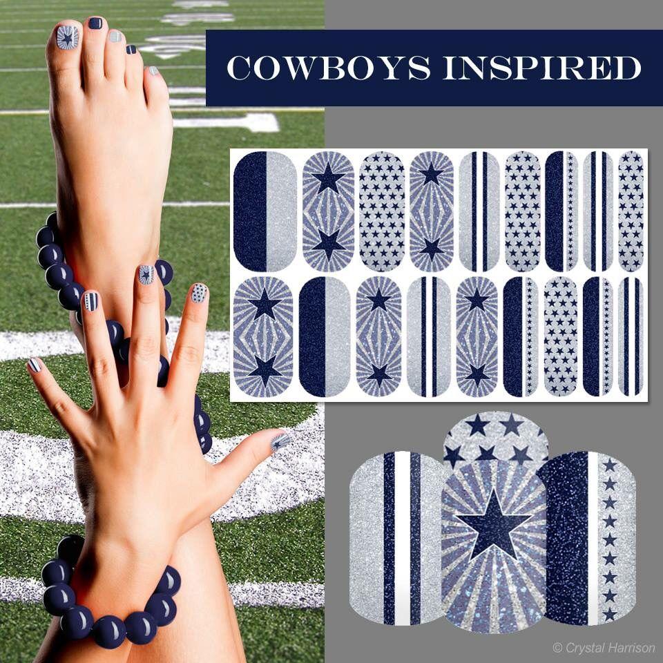 Custom Dallas Cowboys Inspired Jamberry NAS Nails - See my full ...
