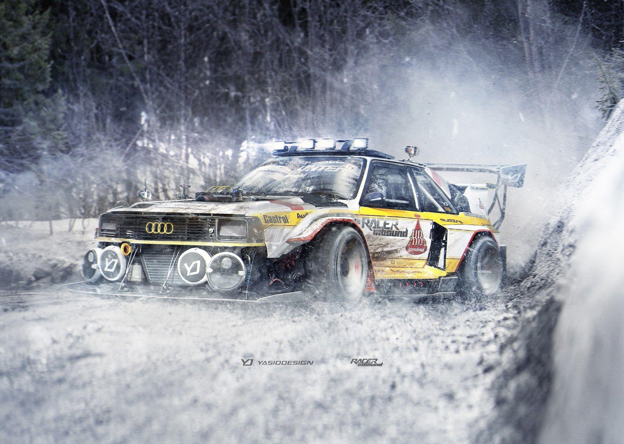 Yasiddesign Render Audi Quattro Audi Rally Cars Car Snow Rally Artwork 1080p Wallpaper Hdwallpaper Desktop Audi Quattro Audi Black Audi