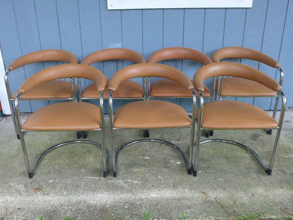 Thonet Cantilever Chrome Chair Ss33 Tan Bauhaus By Zeejunkhunter