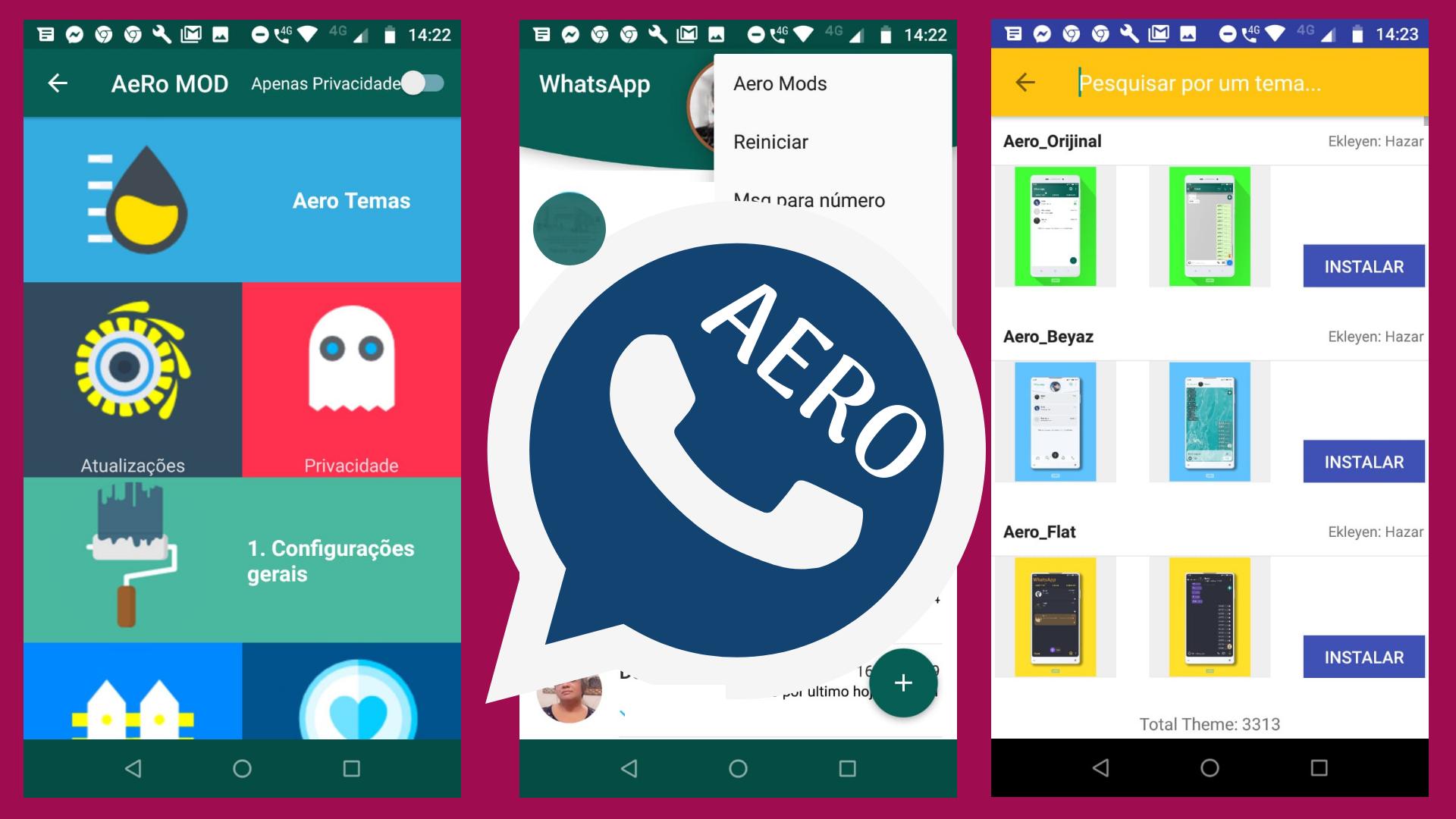 WhatsApp Aero é uma app mod do WhatsApp perfeito nos