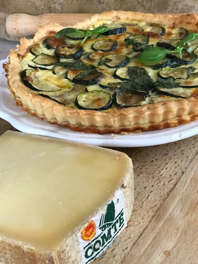 Three delicious savoury tarts combining the creaminess of Comté cheese with seasonal fresh vegetables