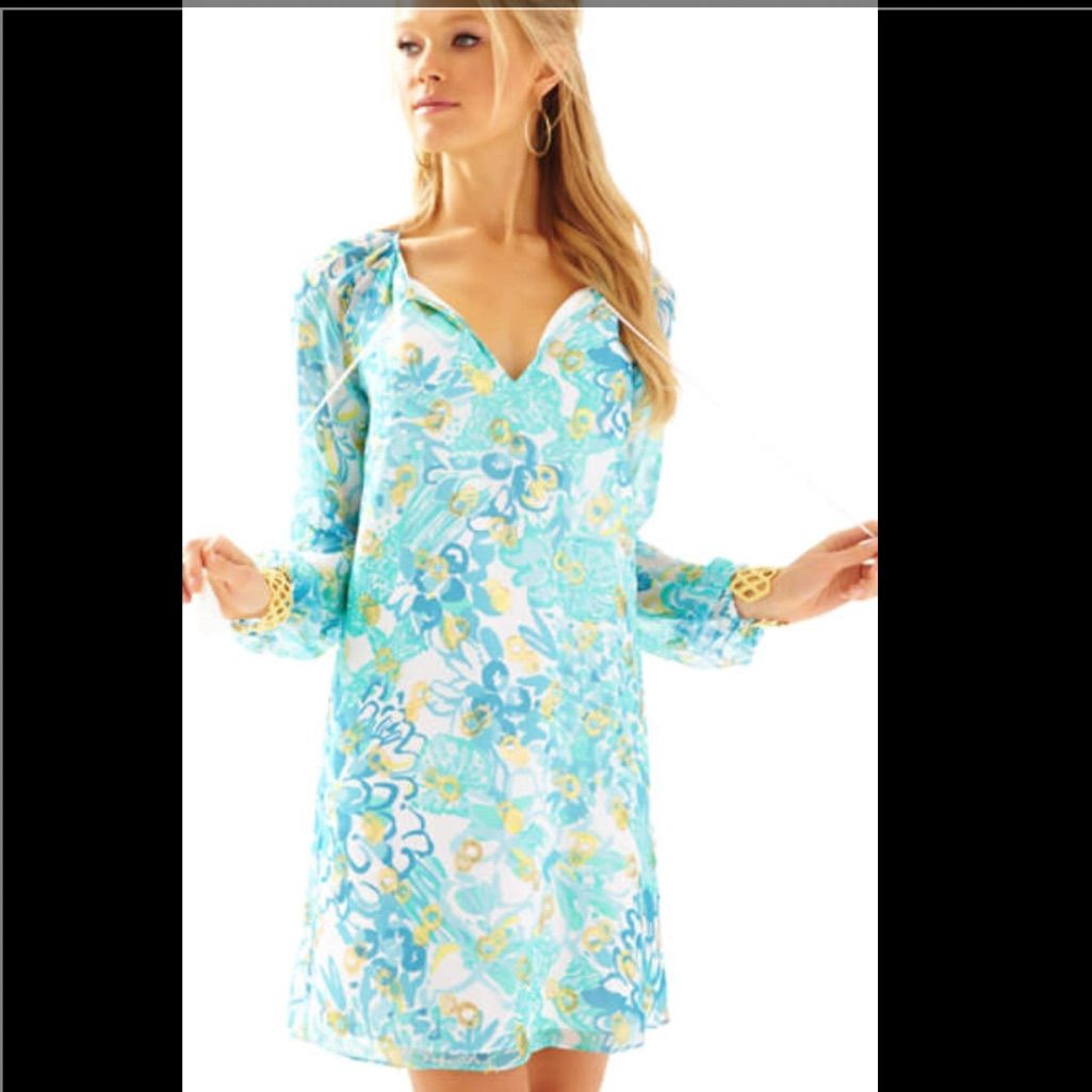 Nwt Lilly Pulitzer Saria Tunic Dress 00 Beautiful! | Products