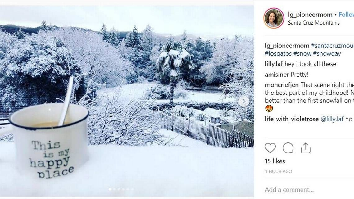 Y All It S Snowing In San Jose Californians React To Snow In Some Unusual Places Winter Weather Advisory Santa Cruz Mountains San Jose