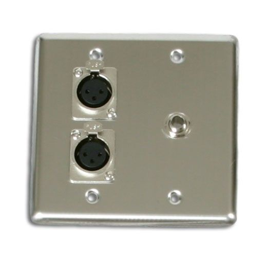 Osp Quad Wall Plate With 2 Xlr And 1 1 4 Jack Q 2 Xlr 1 1 4 Perfect For A Diy Project At Your Church School Or Community Stage Plates On Wall Wall Plates