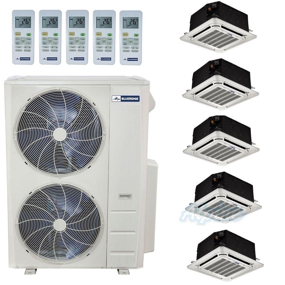 Blueridge 48 000 Btu 21 5 Seer Ductless Minisplit Five Zone Heat Pump In 2020 Refrigeration Air Conditioning