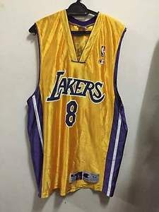 2e4d2534343c Vtg 90s Champion Los Angeles Lakers SEWN Kobe Bryant  8 Basketball Jersey  sz 44