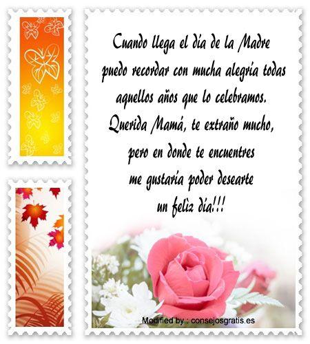 Mensajes Por El Dia De La Madre Para Tu Mama Fallecida Dia De
