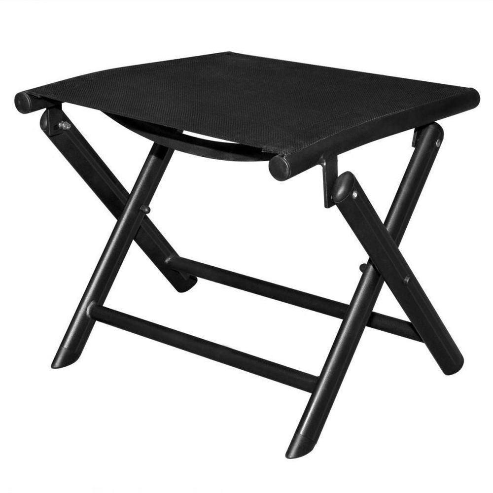 Awesome Small Folding Footstool Black Metal Camping Picnic Outdoor Caraccident5 Cool Chair Designs And Ideas Caraccident5Info