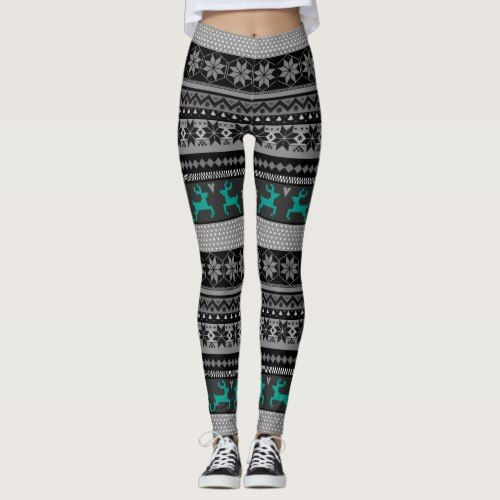 Isle (customizable color reindeer) Leggings