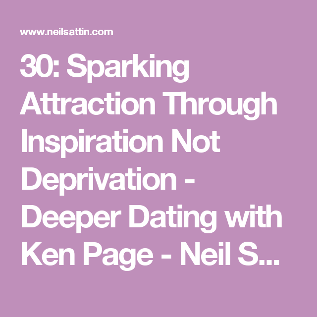 deeper dating by ken page