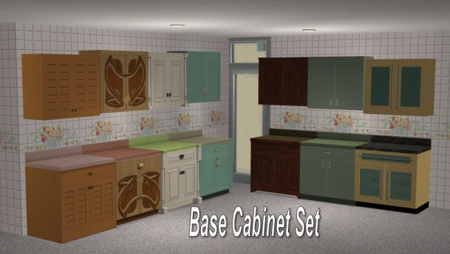 Mod The Sims Full Set Of Maxis Match Wall Cabinets Updated Ts2