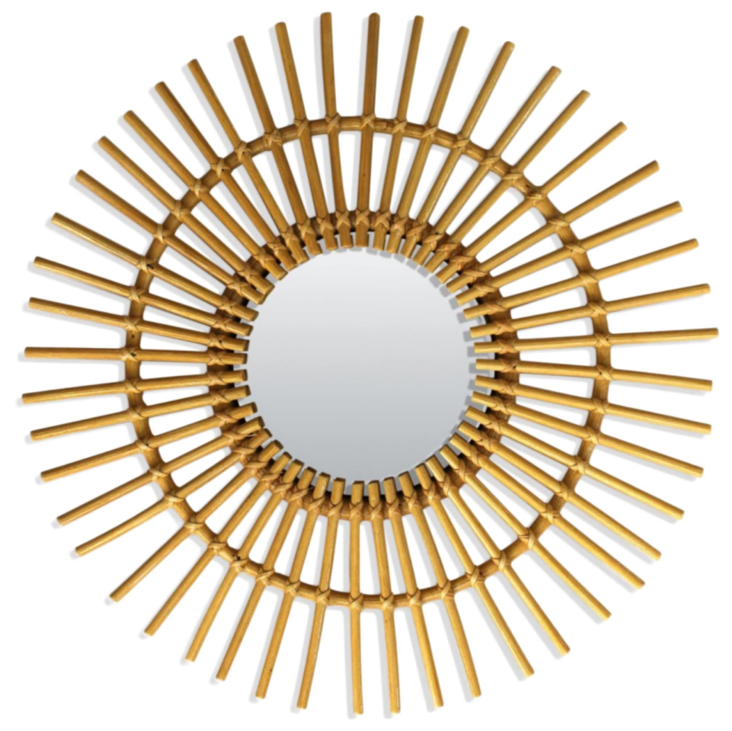 miroir rotin o58 cm castorama